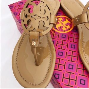 Tory Burch Shoes - Tory Burch Miller Sandals Flip Flop Sand Tan